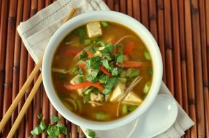 vegetarian soup for cold and cough - trickestan.com
