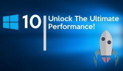 Enable Ultimate Performance on Windows 10