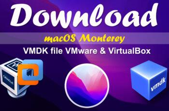 macOS Monterey VMDK File